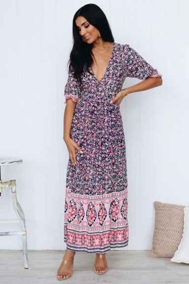 Kiss At Sunset Maxi Dress