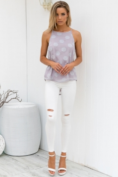 Play With Fire Top - Grey