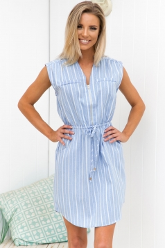 Base Line Dress - Light Blue