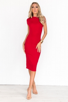 Over The Moon Dress - Red