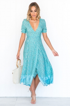 Georgina Wrap Maxi Dress