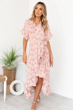 Albee Wrap Maxi Dress